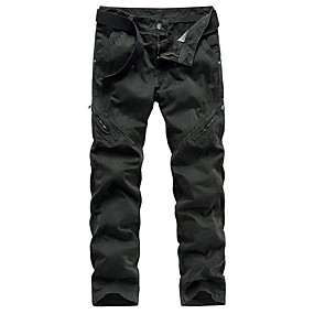cheap Camping, Hiking & Backpacking-Men's Work Pants Hiking Cargo Pants Hiking Pants Trousers Solid Color Outdoor Standard Fit Ripstop Multi-Pockets Breathable Stretchy Cotton Pants / Trousers Bottoms Dark Grey Army Green Black Khaki