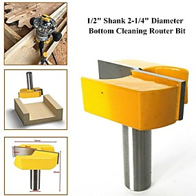 cheap Hand Tools-1/2Handle Woodworking Dia Bottom Cleaning Router Bit Plywood Milling Cutter Kit