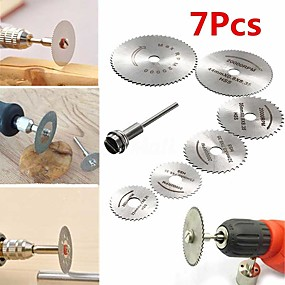 cheap Hand Tools-7pcs HSS Circular Saw Blade Set For Dremel Rotary Tool wood plastic pvc cut off cutting