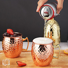 cheap Wine Accessories-Moscow Mule Cocktail Mixer Barware Cup Bar Tool Classic Cocktail Accessories 1pc