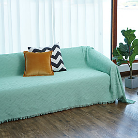 cheap Slipcovers-Sofa Cover Contemporary Embossed Polyester / Cotton Blend Slipcovers