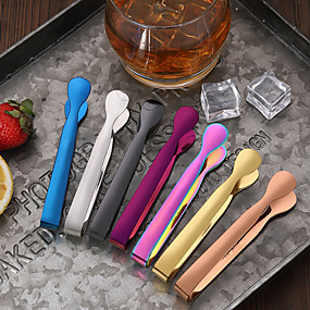 cheap Wine Accessories-Cocktail Ice Clip Color Stainless Steel Coffee Sugar Ice Clip Tweezer Mixer Mini Clamp Tong Clips Ice Cube Little Tea Hot Kitchen Bar Tool Supply