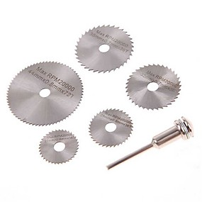 cheap Hand Tools-6 Pcs 22-50mm HSS  Circular Saw Blade Set For Dremel Rotary Tool wood plastic pvc cut off cutting