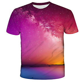 cheap Athleisure Wear-Men's T shirt Graphic Print Short Sleeve Daily Tops Streetwear Exaggerated Red