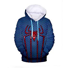 cheap Athleisure Wear-Men's Hoodie Graphic Daily Basic Hoodies Sweatshirts  Navy Blue
