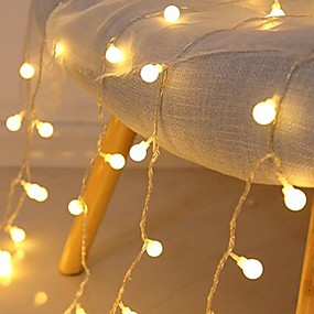 USB Powered-3M 20LED Small Round Ball LED String lights USB Powered Fairy Light Christmas Wedding Holiday Party Outdoor Courtyard Decoration Lamp
