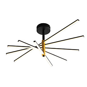 cheap Ceiling Lights & Fans-Ecolight™ 5-Light 80 cm Sputnik Design Flush Mount Lights Aluminum Silica gel Geometrical Black LED Modern 110-120V 220-240V
