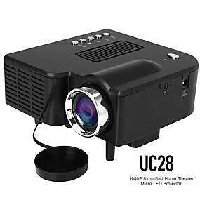 billige Opdage-uc28 ledet miniprojektor 320x240 pixels understøtter 1080p hdmi usb lyd bærbar projektor hjemmemedie videoafspiller beamer uc28 vs yg300