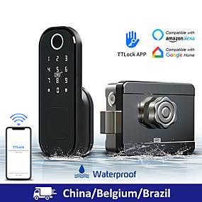 cheap Door Locks-LITBest Aluminium alloy Fingerprint Lock / Intelligent Lock Smart Home Security System Fingerprint unlocking / Password unlocking Household / Home / Apartment Security Door / Copper Door (Unlocking