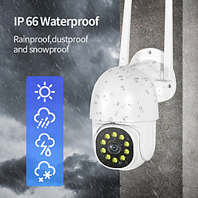 cheap Outdoor IP Network Cameras-INQMEGA 1080P FHD Mini PTZ Wifi IP Camera Outdoor 4X Digital Zoom AI Human Detect Wireless Camera Waterproof P2P ONVIF Audio 2MP