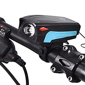 cheap LED Camping Lights-Bike Horn Light Bike Headlight With Touch Button Waterproof Bicycle LED Headlight With Super Loud 130 DB Bike Horn 5 Lighting Modes 5 Horn Modes Rechargeable USB Bicycle Light Horn