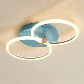 cheap Ceiling Lights & Fans-2-Light 40 cm Geometric Shapes Flush Mount Lights Aluminum Painted Finishes LED Nordic Style 110-120V 220-240V