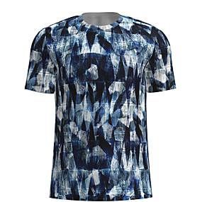 cheap Athleisure Wear-Men's T shirt Shirt Graphic Short Sleeve Daily Tops Basic Round Neck Blue