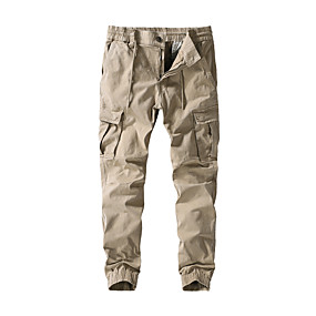 cheap Camping, Hiking & Backpacking-Men's Work Pants Hiking Cargo Pants Hiking Pants Trousers Solid Color Outdoor Standard Fit Ripstop Multi-Pockets Breathable Comfortable Cotton Pants / Trousers Bottoms Army Green Black Khaki Dark Blue