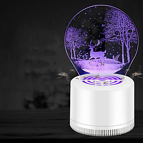 cheap Mosquito Repellent-1 Piece Mosquito Lamp USB Easy to Use Insect Mosquito Fly Killer Repellent Physical Mosquito Killing Traveling Indoor Kid's Adults'