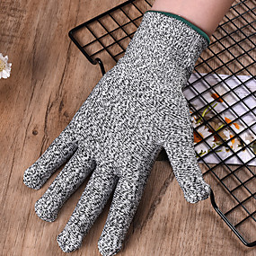 cheap Kitchen-1 Pair Gloves Cut Resistant High Performance Level 5 Protection Kitchen Tool Fishing Hunting Gloves Steel Wire Mesh Gloves Fishing Tools
