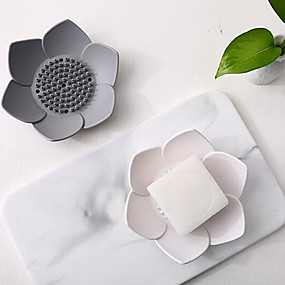cheap Bathroom Gadgets-Soap Box Water Draining Silica Gel Creative Holder Toilet Bathroom Hole Punched Travel Household