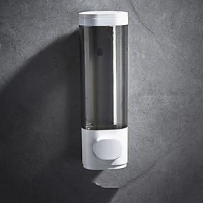 cheap Soap Dispensers-Bathroom Liquid Soap Dispenser Wall Mounted For Kitchen Plastic 500ml Shower Gel Detergent Shampoo Bottle Hotel Home Accessories