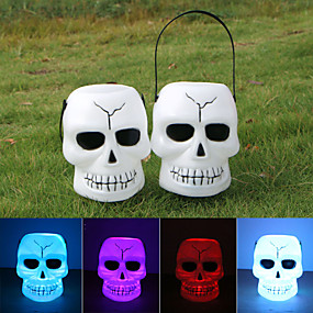 cheap Halloween Toys-Halloween Party Toys LED Lighting 12 pcs Skull Skeleton Plastic Kid's Adults Trick or Treat Halloween Party Favors Supplies