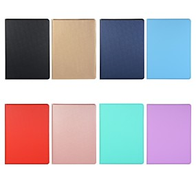 cheap iPad case-Case For Apple iPad Air / iPad 4/3/2 / iPad Mini 3/2/1 Shockproof / Magnetic Full Body Cases Solid Colored TPU pu leather