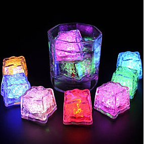 cheap Wine Accessories-LED Ice Cubes Light Multi Color for Drink Wine Party Wedding Decoration 12pcs