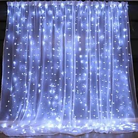 رخيصةأون أضواء شريط LED-3mx2m usb led الستار سلسلة أضواء التحكم عن بعد أضواء الجنية السنة الجديدة عيد الميلاد عيد الحب في الهواء الطلق الزفاف تزيين المنزل