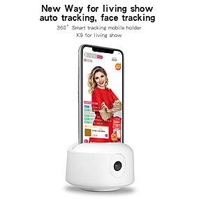 cheap Indoor IP Network Cameras-Newest Design Iluuk K9 360 Degree Rechargeable Auto Tracking Smart Shooting Phone Holder