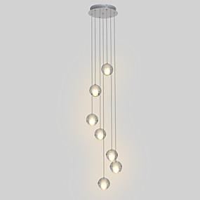 """billige Klyngedesign-7-lys 10 (4 """") krystallledet pendellamp i metall krom moderne moderne 90-240v"""