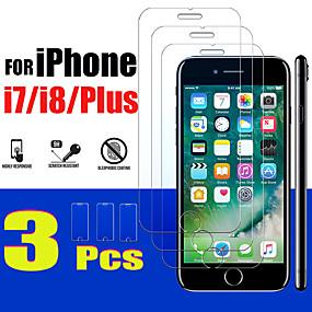 cheap iPhone Screen Protectors-3PCS 7 plus protective glass for apple iPhone 7 8 plus screen protector tempered glas armored I8 I8plus 8plus Iphone8plus Iphone8