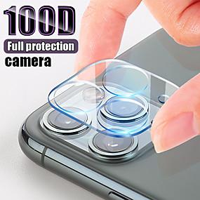 billige Telefoner og tilbehør-gjennomsiktig bakdeksel kameralinser skjermbeskytter beskyttende temperaturglass for iphone 11 pro max / 11/11 pro