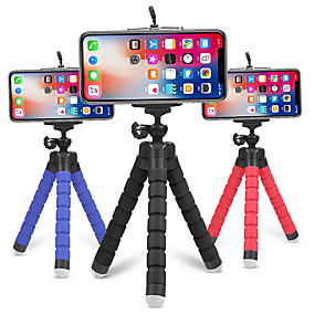 cheap Phone Mounts & Holders-Flexible Tripod Phone Holder for iPhone 12 for Samsung Sponge Octopus Mobile Phone Stand Smartphone Tripod for Camera