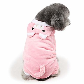 cheap Pet Costumes-dog hoodie jumpsuit pig halloween costume pink pig puppy clothes hoodie warm coat (xl)