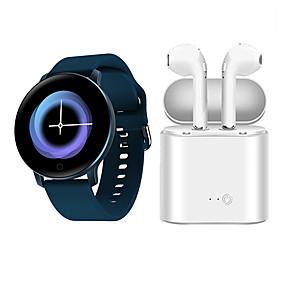 billige Nyheter-x9 smartwatch med gratis tws trådløse hodetelefoner bt fitness tracker støtte varsle / pulsmåler for samsung / iphone / android telefoner