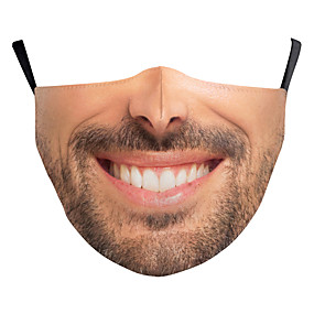 cheap Halloween Accessories-Face cover Men's Polyester One-Size Beige 1pc / pack Adults Anti-UV Daily Basic All Seasons