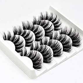 cheap Makeup Tools & Accessories-5 pairs 3d false eyelashes handmade ultra light synthetic fibers 3d mink fake eyelashes reusable soft nature fluffy wispies long lashes with volume makeup eye lash extension set (3d-b)