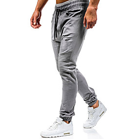 cheap Running & Jogging-Men's Track Pants Bottoms Winter Fitness Running Breathable Quick Dry Soft Sport Black Army Green Grey Khaki / Stretchy