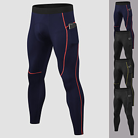 cheap Men-YUERLIAN Men's Running Tights Leggings Compression Pants Athletic Base Layer Bottoms with Phone Pocket Spandex Fitness Gym Workout Performance Running Training Breathable Quick Dry Moisture Wicking