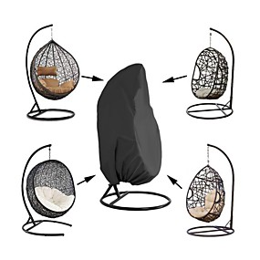 cheap Slipcovers-Outdooe Furniture Cover Waterproof Patio Hanging Chair Cover Egg Swing Chair Covers Outdoor Furniture Protector Black Oxford Cloth 210 Denier