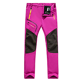 cheap Camping, Hiking & Backpacking-Women's Hiking Pants Trousers Winter Outdoor Thermal Warm Waterproof Portable Breathable Pants / Trousers Bottoms Violet Black Fuchsia Camping / Hiking Hunting Climbing L XL XXL XXXL 4XL