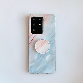 cheap Samsung Case-Case For Samsung Galaxy A20 A30 A50 A30S A50S A10S A20S A70 A70S A90 5G A51 A71 A51 5G A71 5G with Stand Pattern Back Cover Marble TPU
