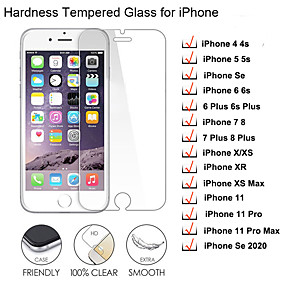 cheap iPhone Screen Protectors-1/2/3/5/10 PCS Screen Protector Glass for iPhone 11 Pro Max X 5 5S SE 4 4S 3 Tempered Glass for iPhone 8 6 6s Plus Glass on iPhone 7 Plus
