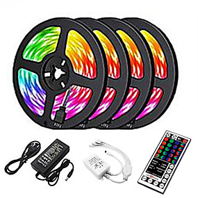 LED Strip Lights-20m LED Strip Lights 1200 LEDs 2835 SMD RGB Light Strips Cuttable Linkable Suitable for Vehicles 100-240 V Self-adhesive IP44 4x5m