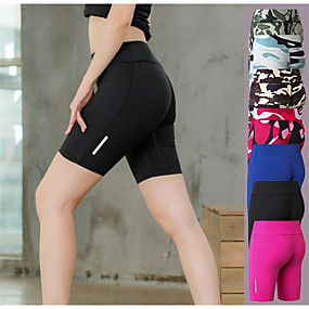 cheap Exercise, Fitness & Yoga-YUERLIAN Women's High Waist Compression Shorts Running Shorts Running Tight Shorts Sports & Outdoor Shorts Bottoms Elastane Yoga Fitness Gym Workout Running Jogging Tummy Control Butt Lift Quick Dry