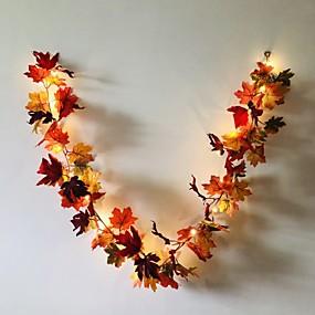 povoljno Svjetlosne trake i žice-1,7m 20leds jesen javorov list ratana vodio žice svjetla praznična zabava vrt zahvalnost žetve festival ukrasne svjetlosti bez isporuke baterije