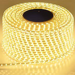 povoljno Svjetlosne trake i žice-vodootporna LED traka ip65 led traka 120leds / m string svjetla smd5630 fleksibilna svjetlost vrtna svjetiljka dvoredne LED trake