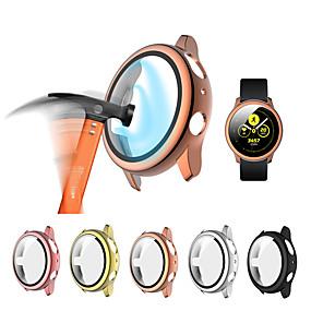 billige Smartwatch Case-glass og etui for samsung galaxy active 2 44mm / 40mm herdet støtfanger skjermbeskytter og deksel aktivt 2 klokkeutstyr