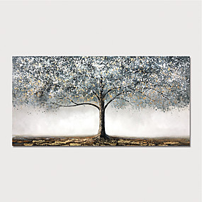 cheap Abstract Paintings-Oil Painting Paint Handmade Abstract Tree Canvas Art Modern Art with Stretcher Ready to Hang With Stretched Frame