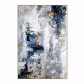 cheap Abstract Paintings-100% Hand painted By Professional Artist 2020 Handmade Abstract Landscape Oil Painting On Canvas Living Room Home Decor Gold Art Rolled Without Frame