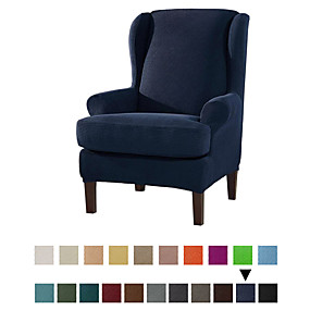 cheap Slipcovers-2 Piece Sofa Cover High Stretch Jacquard Fabric Furniture Slipcover Stay in Place Soft Spandex Form Fit Wing Back Armchair Slipcovers Skid Resistance Machine Washable
