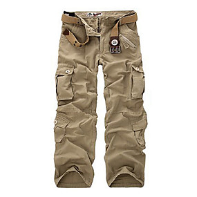 cheap Camping, Hiking & Backpacking-Men's Hiking Cargo Pants Hiking Pants Trousers Military Camo Summer Outdoor Quick Dry Multi Pockets Breathable Sweat wicking Cotton Pants / Trousers Camouflage Yellow Light green camouflage Army